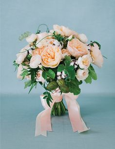 "These colours do seem to be jumping out at me at the moment! ""Blush and Bashful"" bouquet with garden roses, cotton, vines, peach fruit, and geranium leaves Cascading Wedding Bouquets, Bride Bouquets, Bridal Flowers, Bridesmaid Bouquet, Flower Bouquets, Peach Bouquet, Spring Bouquet, Southern Charm Wedding, Southern Weddings"