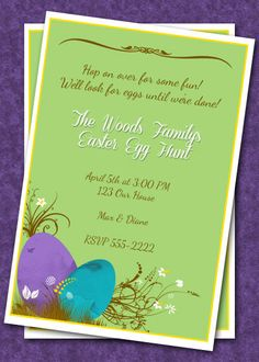 Easter Egg Hunt Invitation  Easter Invitation  by HelenaPrints  #easterinvitation #easteregghunt #easter