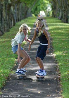 Bethany Hamilton – skateboarding with Alana Blanchard before the attack