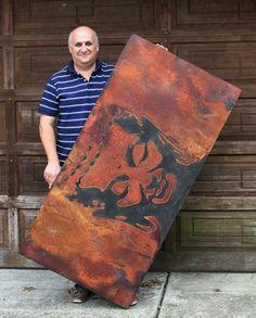 Artist Igor Turovskiy with his Metal Effects Canvas Art Textured Canvas Art, Diy Canvas Art, Artist Canvas, Budha Painting, Buddha Wall Art, Spiritual Paintings, Stencil Diy, Texture Painting, Art Techniques