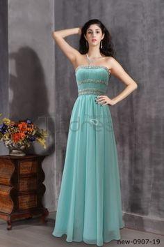 A line of light blue dress sweet princess ground dress blue dress