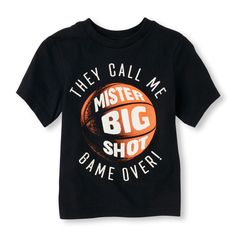 Toddler Boy's 'They Call Me Mister Big Shot Game Over!' Graphic Tee