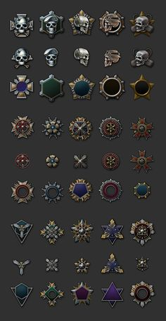 Emblem / Badge / Icon Design on Behance Fantasy Castle, Medieval Fantasy, Game Icon Design, Design Ios, Flat Design, Badge Icon, Mobile Art, Architecture Tattoo, Badge Design