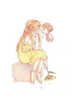 Asuka soryu langley - If I could come to a girl and dry her tears. Neon Genesis Evangelion, Asuka Langley Soryu, Rei Ayanami, Best Waifu, Illustrations, Pretty Art, Anime Art Girl, Anime Characters, Manga Anime