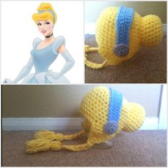 Crochet Cinderella Beanie Hat - Etsy $15.00 @Aubrey Gill - you seriously need to learn to crochet because Nani would love this!!!