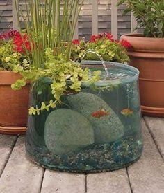 Pop Up Aquarium! love the idea of fish + moving water + plants  // sooo cool!!
