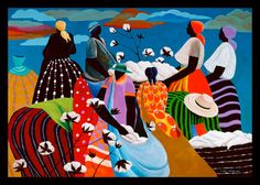 YESTERDAY COTTON ~ Ivey Hayes African American Movies, American Artists, Haitian Art, Black Artwork, Unique Paintings, Tropical Art, Art Pictures, Photos, Abstract Canvas