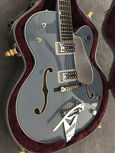 2017 Stephen Stern Masterbuilt Gretsch Falcon. Beautiful faded indigo blue custom color. Filtertron pickups. More details available upon request. All serious offers welcome. No trades, no returns. #beautifulguitars