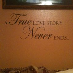 Wall decal in my master bedroom