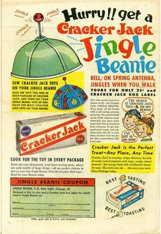 Cracker Jack vintage ad — Jingle Beanie!