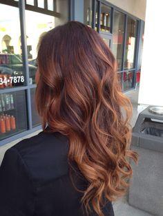 Ombré for brunette/red hair!