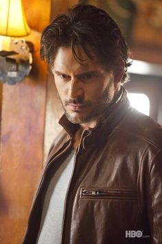 true blood, alcide. I'm not crying, I just have something in my eye.....like a branch.....