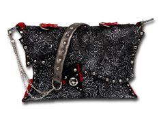 Handmade leather bag (black/silver/red cavallino) Black White Red, Black Silver, Leather Bags Handmade, Shoulder Bag, Fashion, Moda, Fashion Styles, Shoulder Bags, Fashion Illustrations