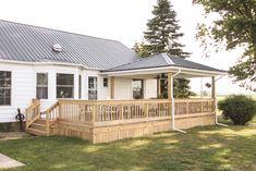 Deck Reveal - Our Completed Outdoor Living Space - Love Grows Wild Gazebo On Deck, Pergola Patio, Diy Patio, Backyard Patio, Patio Ideas, Small Pergola, Modern Pergola, Pergola Ideas, Decks And Porches