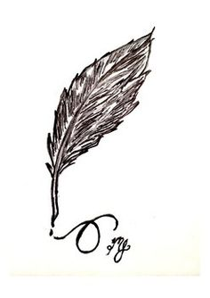 Quill Pen Quick Sketch Clip Art