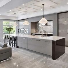 Plan Grey Kitchen - the Story - inspiredeccor Plan Grey K. Plan Grey Kitchen - the Story - inspiredeccor Plan Grey Kitchen - the Story - inspiredeccor Kitchen Flooring, Kitchen Remodel, Interior Design Kitchen, Contemporary Kitchen, Open Plan Kitchen Living Room, Diy Kitchen Renovation, Open Plan Kitchen, Kitchen Island With Seating, Kitchen Design