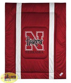 7d55c104d Bedding - Nebraska Huskers Bedding - NCAA Sidelines Comforter - SportsKids  Superstore Queen Beds