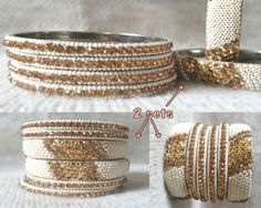 igotsparkle.etsy.com   Indian Bangle Bracelet set Women/Bridal WEDDING Jewelry/ Womens day GIFT for Her/Boho/Stackable Bracelet/Rhinestone Beaded Bangles ## These Bangles are purely handcrafted, look rich and classy. A perfect gift for your BFF, Girl friend, cousin, sister, daughter, mother, coworker, and designed to G...