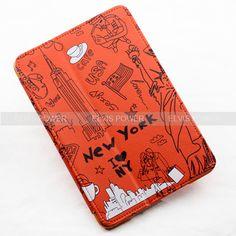 New New York Leather Folio Hard Case with Smart Cover Flip for Apple iPad Mini | eBay