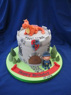 Dragon & knight cake
