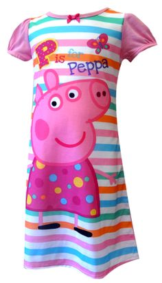 Nickelodeon Peppa Pig Toddler Nightgown Simply sweet! This flame resistant nightgown for toddler girls features Nickelodeon's P...