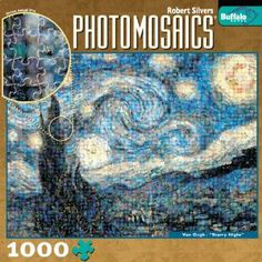 Photomosaic The Starry Night 1000 Pieces Jigsaw Puzzle...might take me a month to do this but i will piece it together!