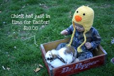 Chick/Duck hat by AuntCraftysCreations on Etsy, $10.00