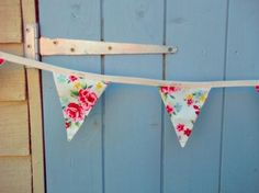 Handmade luxury retro cream and jam floral bunting garland - Personal Space Interiors - the home of fabulous handmade vintage, retro and con. Mini Bunting, Bunting Garland, Space Interiors, Retro Floral, Personal Space, Love Is All, Clothes Hanger, Home Furnishings, Upcycle