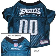 Philadelphia Eagles Dog Jersey - Alternate Style [PHI-Jer-alt] - $29.95 : Old Timer Sanctuary, Helping shelters and rescues become more sustainable, for the latest NFL gear, apparel, collectibles, and merchandise for pets.