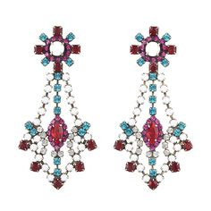 Dannijo Evalise Earrings (25.940 RUB) ❤ liked on Polyvore featuring jewelry, earrings, accessories, women, swarovski crystal earrings, dannijo earrings, dannijo jewelry, swarovski crystal jewelry and earring jewelry