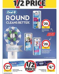 If you cant make it to Priceline by tomorrow for #halfprice on #oralb try #coles who also have 50% off most Oral B products until 12.12.17