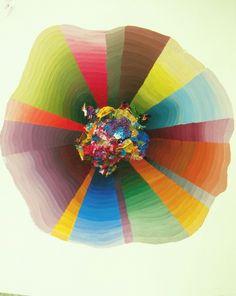 Josie Lewis, Honeymoon Painting, acrylic on paper, 2012