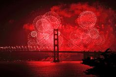 Golden Gate Bridge with Fireworks. 75th Anniversary. | by arka02