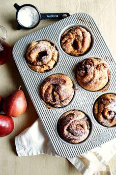 chai & pear cinnamon rolls | The Baking Fairy