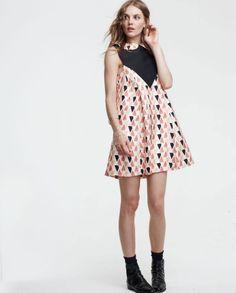 driver 8 collar dress by lauren moffatt 365 Collar Dress, Peplum Dress, Silk Dress, Modern Vintage Dress, Vintage Style, Free Printable Gift Tags, Dress Me Up, Pretty Dresses, Dress To Impress