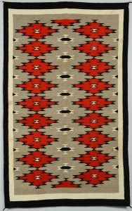 Lot 624: Navajo Ganado Rug - Image 1 -  to bid online, view our catalog at http://www.liveauctioneers.com/catalog/49503_winter-fine-art-and-antiques-auction/page32?rows=20