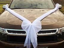 Svadba - Svadobná výzdoba na auto - mašľa - 4890224_