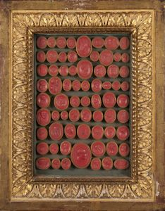 Extremely Rare Collection of Red Wax Grand Tour Intaglios in original frames (1780) - The Gentleman Collector