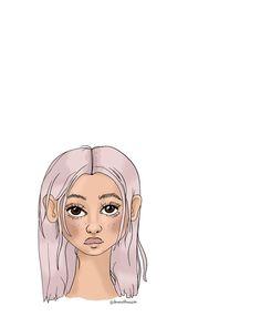 Face Illustration, Purple Hair, Art Tutorials, Disney Characters, Fictional Characters, Aurora Sleeping Beauty, Queen, Disney Princess, Drawings