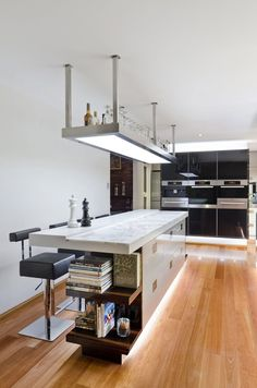 Kitchen Bar With Hidden Down Lighting Ideas