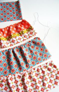 Pattern for striped skirt - not loving the material, but that can be changed!