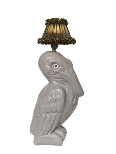 Pelican Lamps by Abigail Ahern in dove grey