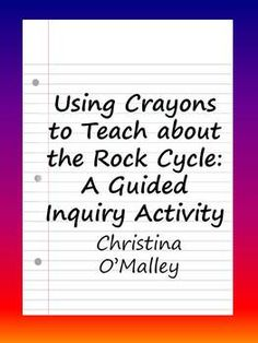 This activity is perfect for a review of the rock cycle, but when done in its entirety is a simulation of the rock cycle! Good for learning it for the first time (for 3rd graders) or reviewing concepts and vocabulary (4th grade, 5th grade). Students can also gain plenty of practice using science vocabulary.