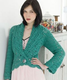 Stitch Nation by Debbie Stoller™ Filigree Cardigan - Free Pattern - I really love the look of this!