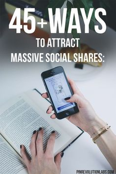We all want more social shares so we can increase our blog traffic or ecommerce traffic. Check out these 45 sure fire ways to get more shares on social media like Facebook, Twitter, Pinterest and more. #socialmedia #socialmediamarketing (Affiliate Link)