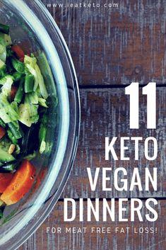Vegan Keto Diet, Vegan Keto Recipes, Diet Dinner Recipes, Vegetarian Keto, Keto Dinner, Vegan Meals, Vegan Food, Vegetarian Italian, Eating Vegan