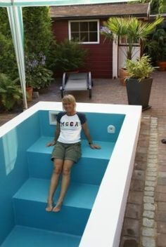 Mini Pool Pool Protecting Against Pornography In The Digital Age It was inevitable w Small Inground Pool, Small Swimming Pools, Small Backyard Pools, Swimming Pools Backyard, Pool Spa, Pool Landscaping, Backyard Patio, Pavers Patio, Patio Stone