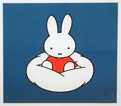 Miffy on a Cloud, Dick Bruna, Collector's edition giclee print, numbered. Edition of 495 mounted size x Rabbit Life, Japanese Folklore, Miffy, Cute Cartoon Wallpapers, Phone Wallpapers, Little Pony, Cute Art, Childrens Books, Hello Kitty