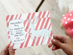 """Spread the word of your kid-friendly festivities with our charming party invite. Print onto card stock then cut out and slide into a standard 5"""" x 7"""" envelope. Print extra invites on the day of the party and have the kids draw a picture and sign their name on the back for a nice souvenir."""