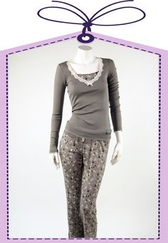 Romantic nightdress in grey by Vive Maria online available at www.pyjama-und-co.com